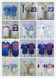2019 billige rückschläge Günstige Cubs 23 # Sandberg Weiß Blau Creme Camo heißer Verkauf rot Großhandel Grau Baseball Rückfall Jerseys Shirt Genäht Top-Qualität! günstig billige rückschläge
