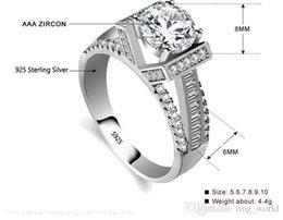 Argentina Sólido de lujo 925 Anillo de Compromiso de Plata de ley 8mm 2 Ct Cubic Zirconia CZ Diamant Anillos de Boda para Mujeres ZR397 Suministro