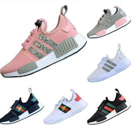 Argentina 2019 R1 Lentejuelas Malla Transpirable Zapatos para correr para niños Consorcio R1 Buffer Cucci Buffer Calzado deportivo para niños Suministro