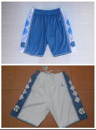 lbj elite Promotion NCAA Caroline du Nord blanc et bleu brodé de basket-ball Pantalon S-XXL