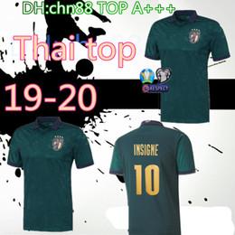 2019 jerseys de epl calidad superior 19 20 Italia 3ª camisetas de fútbol 2019 2020 uropeaparala equipo nacional de Copa Italia BONUCCI INMÓVIL INSIGNE Tercera camiseta de fútbol Jersey