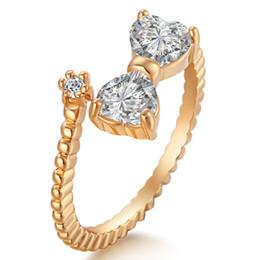 Zarif Ilmek Beyaz Zirkon Altın Renk Yüzük Kadınlar Için ABD # Boyutu 6/7/8 9 M03-J1583 cheap ring size 7.75 nereden halka büyüklüğü 7.75 tedarikçiler