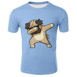 Tshirt di stampa animale online-Animal Pug Dog DAB Kids Tshirt 2019 Summer Children T-Shirt Boy Girl Manica corta Printed Tee Top Bambino Dabbing Maglietta Unicorn