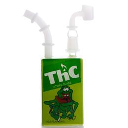 Tubo di succo online-Hitman Mini Dab Glass Bubbler Bongs Juice box Oil Rigs Pipa per l'acqua tubi per il fumo olio per percolatori Dab Rig con narghilè comune 14mm