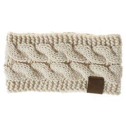 1 stück Frauen Häkeln Stirnband Dame Knit Airband Breiten Winter Ohrwärmer Headwrap Frauen Verdreht Gestrickte Garn Haarschmuck von Fabrikanten