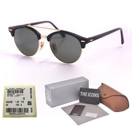 2019 gafas mitad marco ojo de gato Nueva llegada diseñador de la marca Cat Eye Sunglasses hombres mujeres Half Frame gafas de sol con lentes de vidrio UV400 con empaque y etiqueta al por menor gafas mitad marco ojo de gato baratos