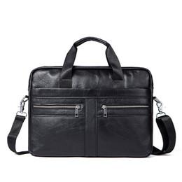 Deutschland 2019 Zeitlich begrenzte Kvky-Marke Geschäftsleute Aktentaschen 100% echtes Leder Handtaschen Kuh Große Messenger Bags Laptop Mit Griff Versorgung