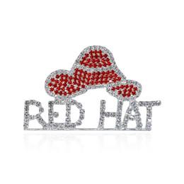 roter hutschmucksachegroßverkauf Rabatt Großhandel-Strass Red Hat Theme Schmuck