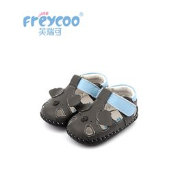Весна лето новые детские туфли онлайн-Freycoo 2019 New Summer Spring Kids Shoes Baby Toddler For Girls Cowskin Genuine Leather Cack Shoes 1258