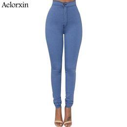 calca jeans Rabatt Dünne Jeans für Frauen Dünne Jeans mit hoher Taille Frau Blaue Jeans Bleistifthosen Stretch-Taille Frauen Schwarze Hosen Calca Feminina
