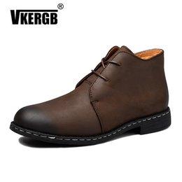 bd2749a31743b 2019 uomini di mocassini per barche VKERGB Italian Men Shoes Casual  Mocassini Mocassini in vera pelle