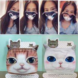 princesa pelo ups Rebajas A prueba de polvo de algodón Boca mascarilla de dibujos animados 3D gato máscara de la personalidad linda lavable para Máscaras de las mujeres de los hombres de la cara de la boca del partido decoración de DIY