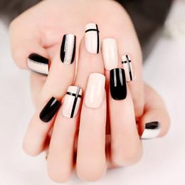 Discount Black White Acrylic Nail Designs Black White Acrylic Nail