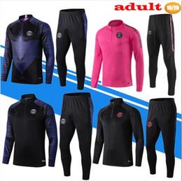 camisa ozil alemanha Desconto Novo 2019 2020 MBAPPE Psg Mens jaqueta de Treino 19 20 psg qualidade Conjuntos de Treino de futebol POGBA Fato de Treinamento de Futebol