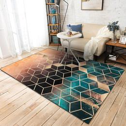 Alfombras estampadas online-Alfombras modernas Alfombras de patrón geométrico Nordic Sencilla sala de estar Mesa de café Habitación Dormitorio Alfombra de piso Alfombra para niños Estera de arrastre