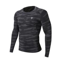 Collant verde camouflage online-Maglietta sportiva da uomo Maglietta sportiva da allenamento Camouflage T-shirt fitness verde grigio Abbigliamento asciugatura rapida T-shirt aderente FN30C ST