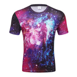 Camicia donna spaziale online-Galaxy Shirt Space Universe 3d Print Tshirt uomo Hort Sleeves Womens Brand Abbigliamento Hip Hop Top Tees Estate Cool Abbigliamento Hiphop Ypf270