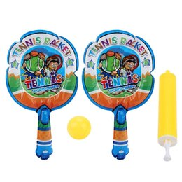 tennis rackets wholesale Coupons - Tennis Racket Light Weight Inflatable Children Tennis Racket+Inflatable Ball Child Favorite Hot Toys Kids Outdoor Fun Toy Sports