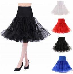 Canada Puffy Short Organza Halloween Women Crinoline Vintage Bridal Petticoat for Wedding Evening Cosplay Underskirt Rockabilly Tutu Offre