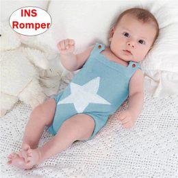 d5ddd4852ab76 Nouveau-né Star design Romper INS bébé tricoté Jumpsuit Infantile fille  garçon Automne Hiver Body 6colors 4 tailles baby girl body winter pas cher