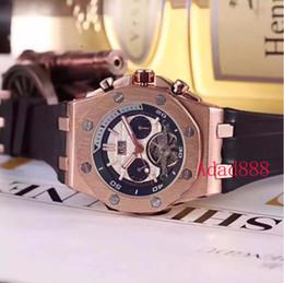 movimento orologio tourbillon Sconti Orologio da uomo di alta qualità Tourbillon orologi cinturino in silicone grande quadrante casuale movimento meccanico automatico orologio da polso moda orologi movimento