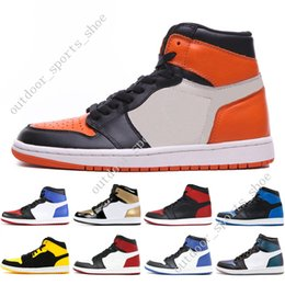 ddc0192688a5a 1s OG 1 top 3 mens basketball shoes Homage To Home Banned Bred Toe Chicago  Royal Blue Gold Pass The Torch Melo men sports sneakers trainers