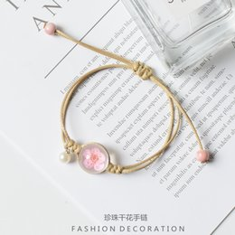 south korea popular jewelry Promo Codes - 2019 new hand made flower bracelet loves girlfriends gift Japan South Korea Europe and the United States popular jewelry