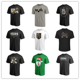 Camisetas de los hombres de Las Vegas Golden Knights Hockey Camisetas de marca Moda negra Camiseta deportiva al aire libre Uniforme de manga corta Camisas impresas Logotipos desde fabricantes
