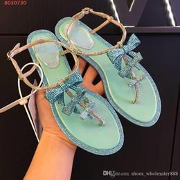 Инкрустация обуви онлайн-2019 последние Женские сандалии, инкрустированные бриллиантовые женские туфли, плоские удобные нежные сандалии, горячая продажа в