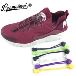 2019 rilievo del piede della sfera dell'ammortizzatore Nuovi divertenti gadget Comodo blocco colorato Elastico no lacci Lacci per scarpe in silicone Lacci per scarpe pigri sportivi per sneaker