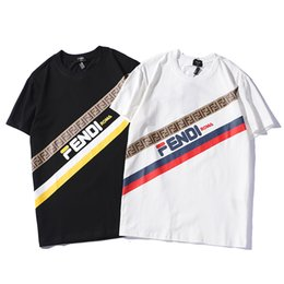 mens wholesale designer clothes Coupons - Summer Designer T Shirts for Men Brand Tshirts with Branded Letters Fashion Short Sleeve Luxury Tops Breathable Tees Mens Clothing S-2XL