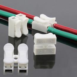 Empalmes de cables eléctricos online-Venta al por mayor 30 unids / lote conectores de cable de bloqueo de empalme rápido CH2 2 pines terminales de cable eléctrico 20x17.5x13.5mm