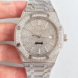 Herren Diamant Uhr 15400.OR Edelstahlgehäuse ultradünne automatische mechanische Bewegung 41mm Luxusuhr Herrenuhren automatische Uhr von Fabrikanten