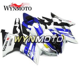 Carenados de motocicleta completos para Yamaha YZF 600 R6 2008 - 2016 09 10 11 12 13 14 15 ABS Inyección de plástico Motocicletas Fundas Azul Blanco Cubiertas desde fabricantes