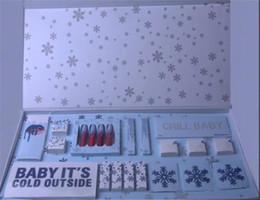 set regalo di trucco Sconti 2018 Christmas Holiday Collection Set da trucco CHILL BABY palette di ombretti BABY È FREDDO ESTERNO Liquid Lipstick Liner Cosmetici scatola regalo