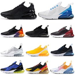 Max herren sportschuhe online-Nike Air Max 270 airmax FLORAL Laufschuhe für Frauen Männer Schuhe SE Triple Schwarz Weiß RAINBOW HEEL Herren Trainer Sport Sneakers 36-45