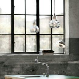 lampara moderna tom dixon Rebajas 110v moderna, 220v accesorios hanglamp Loft Vintage E27 Cristal colgante luces, lámpara colgante retro Edison comedor industrial