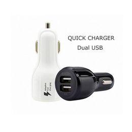 2019 ônibus para iphone Qualidade superior qc 3.0 carga rápida 3.1a carregador de carro de carga rápida dual usb rápido carregador de telefone de carregamento