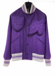 Chaquetas de plumas moradas online-2019 Invierno hombre dedo victoria de diseño de lujo gris púrpura caliente hacia abajo chaqueta de diseñador de París por la chaqueta para hombre 113