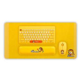Cojín de la mano del usb online-Teclado USB inalámbrico Alfombrilla de ratón Mano en cualquier lugar que necesites Descanso Diseño elegante con apariencia distintiva. Set de cojines