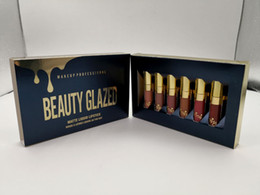 Original beleza vitrificada ouro cosméticos edição de aniversário 6 pcs set lipgloss cosméticos batom líquido lip gloss lipgloss kit dhl livre de