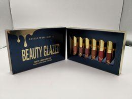 Original Beauty Glazed Gold Cosmetics Birthday Edition 6pcs Set Lipgloss Cosmetics Matte Liquid Lipstick Lipgloss Lip Gloss Kit DHL libre desde fabricantes