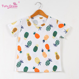 Tshirt di stampa animale online-Ragazze Top Estate 2019 Cute Kids Tshirt Baby Girl Abbigliamento T-shirt Unicorno Animal Print Bambini T-shirt per le ragazze Abbigliamento