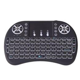Argentina 200 Rii i8 Control remoto Ratón de aire con retroiluminación LED Combo teclado 2.4 GHz Teclado portátil Construido en batería Negro para todos Android Suministro