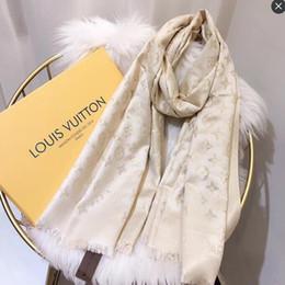 Atacado Moda Luxurys Lenço De Seda Pashmina para Mulheres Designer de Verão Cachecol Mulheres Longo Xaile Envoltório 180x70 cm de