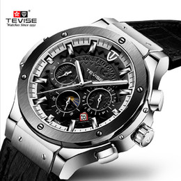 tevise brand watches Coupons - TEVISE Fashion Brand Men Automatic Watch Men Moon phase Mechanical Watch Leather Sport Wristwatch Relogio Masculino