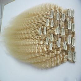 Canada Pince à cheveux droite Yink brésilienne remy crépus dans des extensions de cheveux humains 10 pièces et clip de 100g / Set dans des extensions de cheveux cheap clip yaki Offre