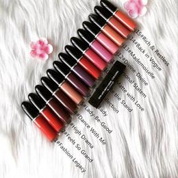 Cor de lábio líquido on-line-EPACK Nova Maquiagem Retro Fosco Líquido Lip Color Waterproof Esmalte Lipgloss 15 Cores Diferentes Com Nome Inglês (15 Pçs / lote)