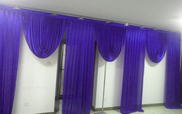 3M * 6M large swags de toile de fond décoration de mariage scène décor fond styliste partie drapé décoration ? partir de fabricateur