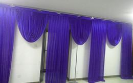 3M * 6M de ancho Botines de telón de fondo Decoración de boda escenario telón de fondo estilista Decoración de cortina de fiesta desde fabricantes